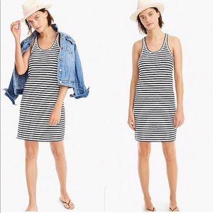 J. Crew White Striped Tank Summer Dress